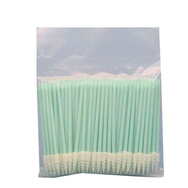 Small Pointed Tips Cloth Head Cleaning Dust Free Sticks, For Electronics Small Area (green White)