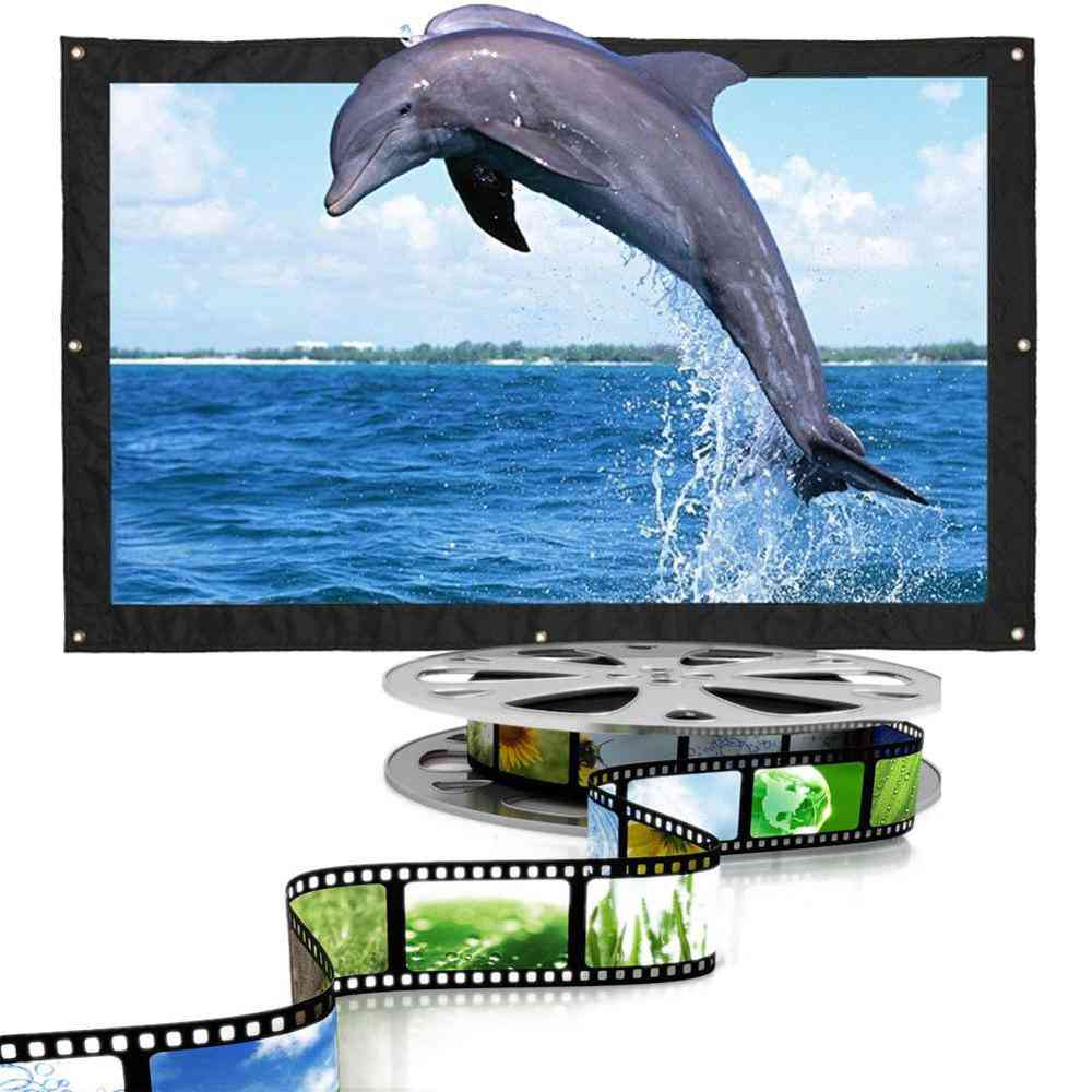 Foldable Projection Screen Edging Projector, Home Audio-visual Screen