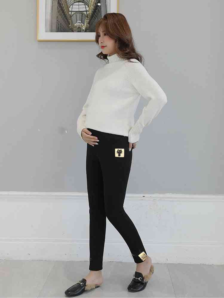 Maternity Legging Elastic Waist Belly Warm Clothes For Pregnant Women