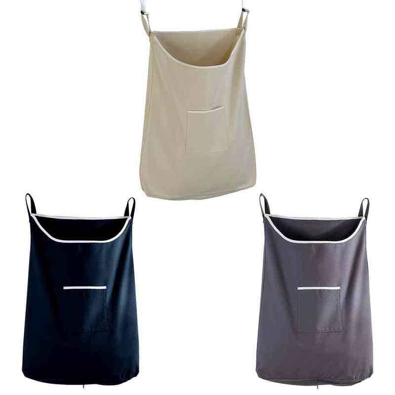 Household Large Capacity Dirty Clothes Pocket Hanging Laundry Bag