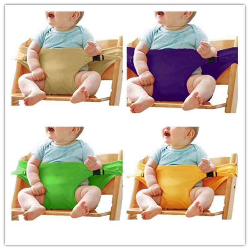 Baby Portable Lunch Chair Seat Stretch Wrap Dining Chair Safety Belt