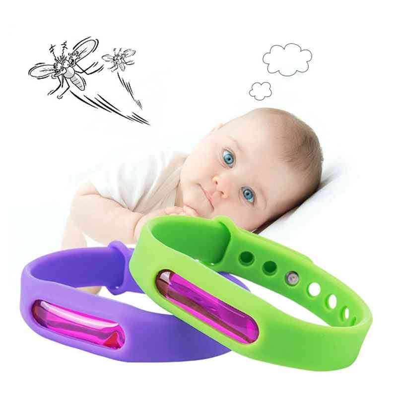 Kid Environmental Protection Silicone Wristband Summer Mosquito Repellent Bracelet