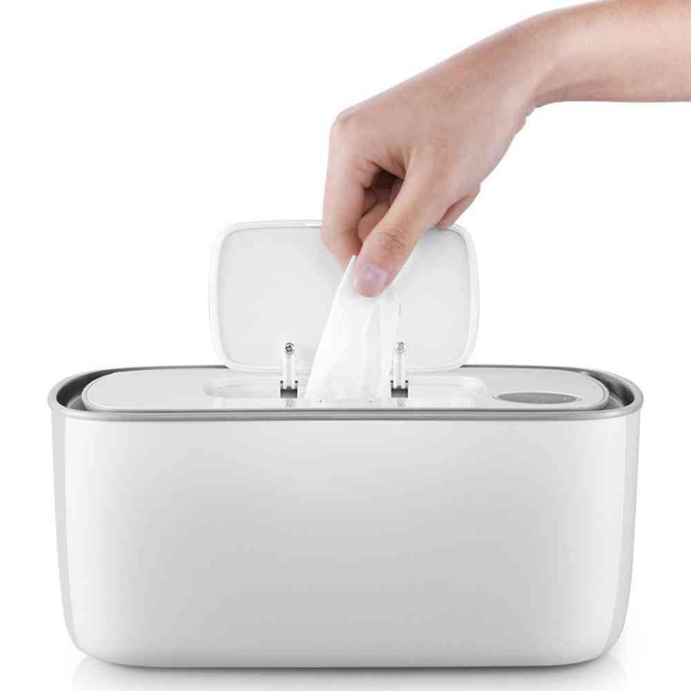 Wet Wipes Heater Baby Temperature Household Wet Tissue Box Built-in Sensor Led (white)