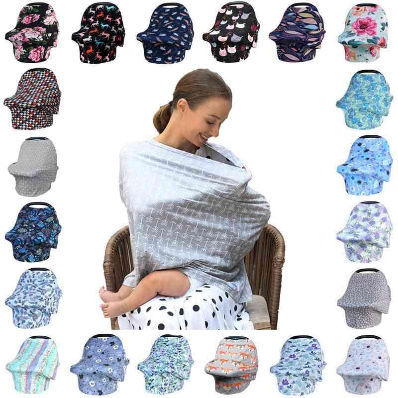 Breastfeeding Scarf Multi-function 5 In 1 Baby Stroller Cover