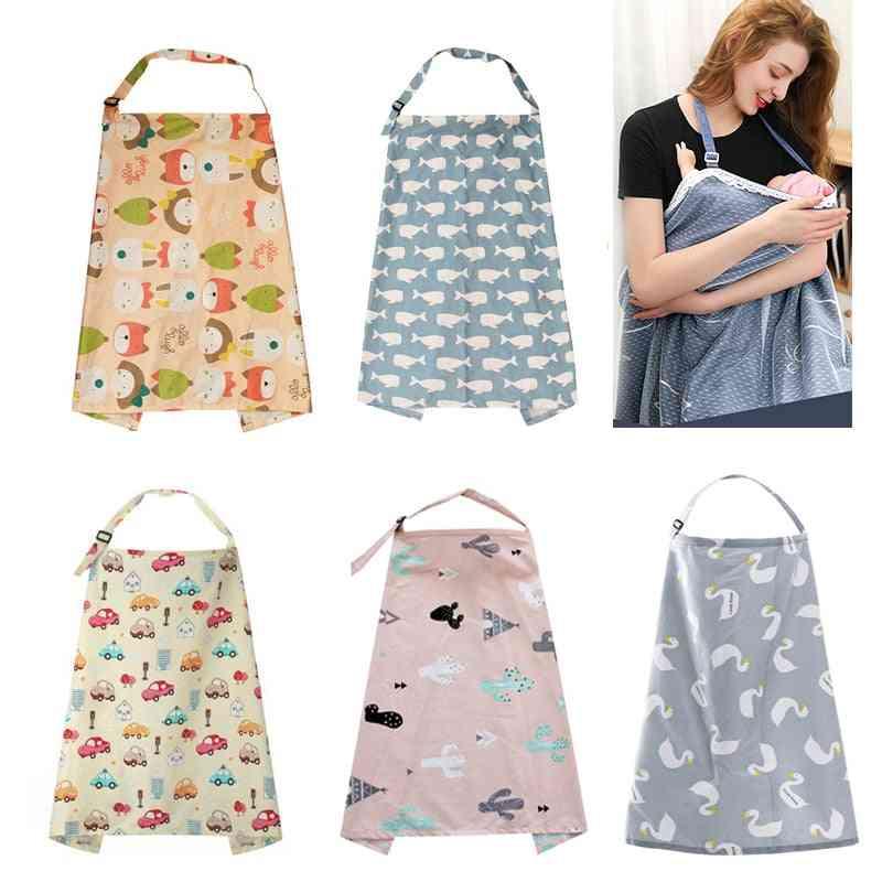 Breathable Baby Mum Breastfeeding Nursing Poncho Cover Up Adjustable Apron