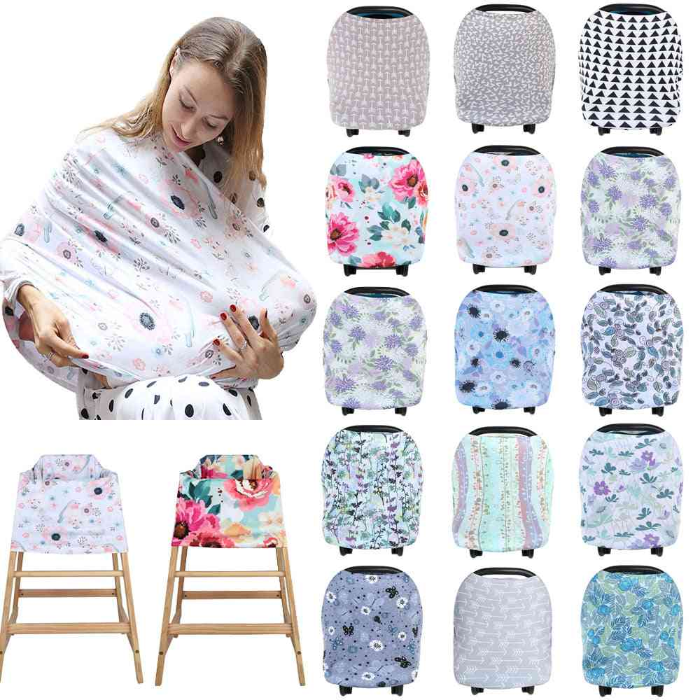 Multifunctional 5 In 1 Baby Breastfeeding Car Seat Cover Canopy