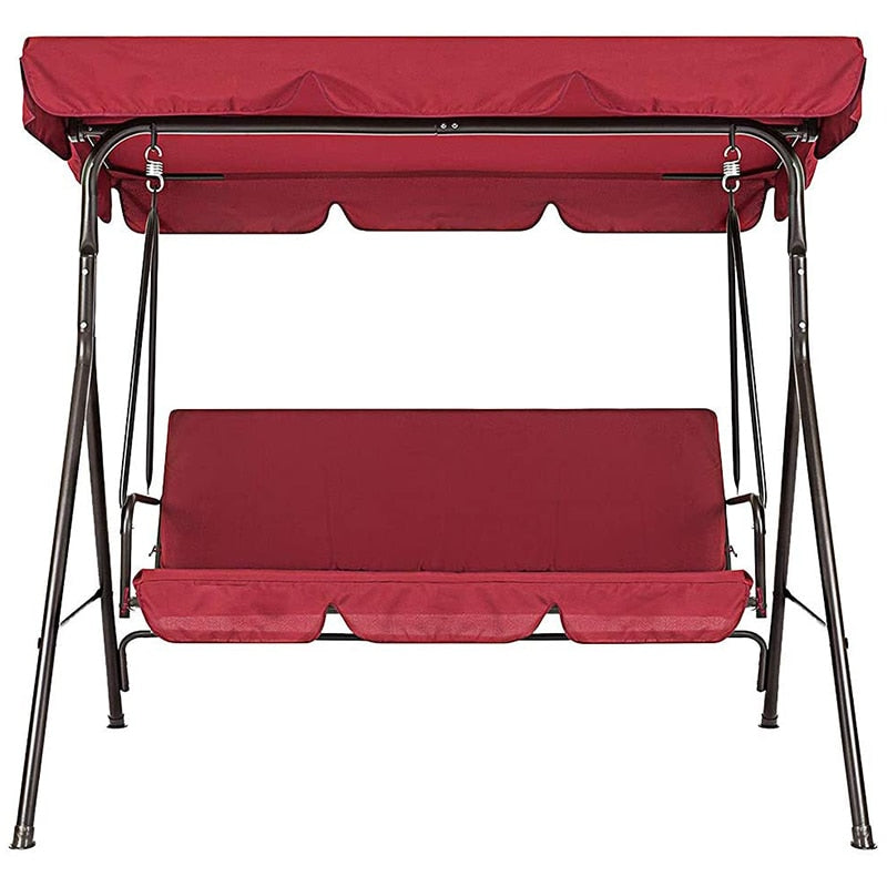 Universal Terrace Swing Garden Chair And Top Covers (red) - Covers Only