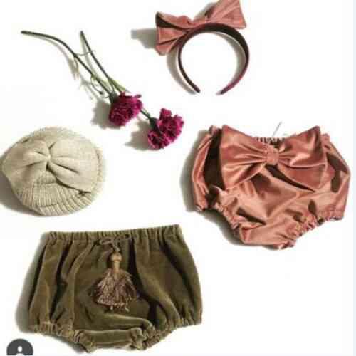 Cute Baby Velvet Bottom Bloomer Pp Casual Shorts Diaper