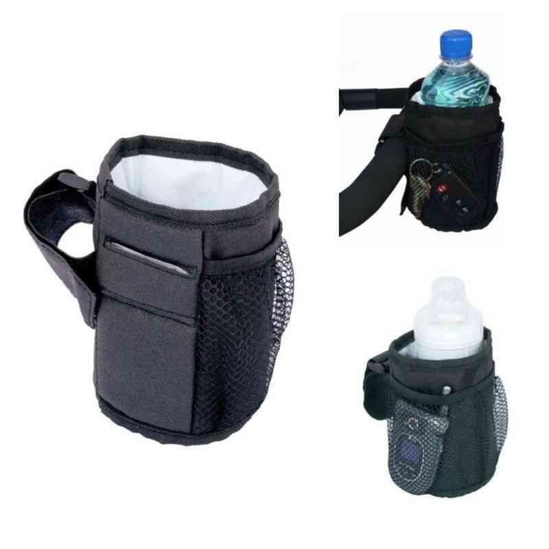 Waterproof Rack Universal Bike Baby Cart Cup Holder Drink Feeding Bottle Bag