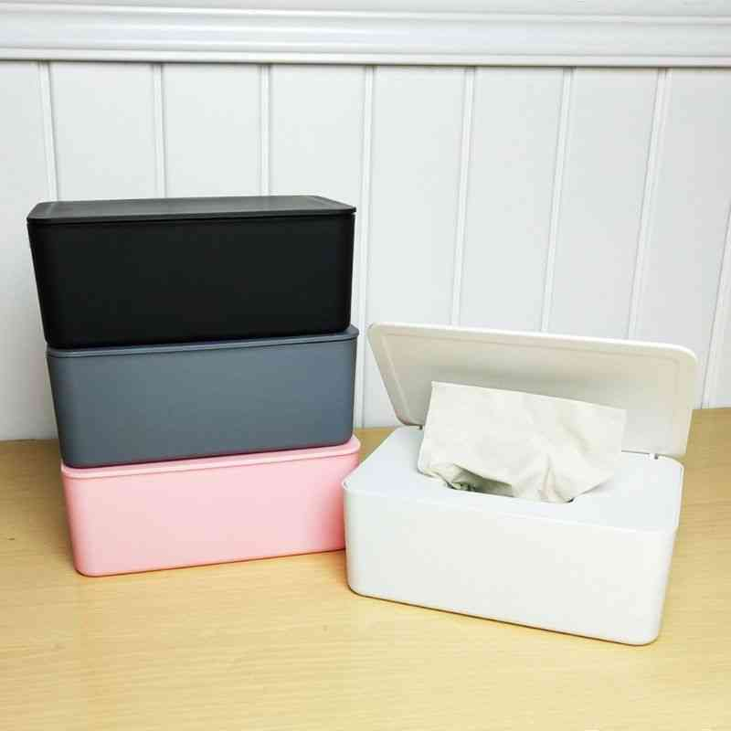 1pc Wipes Dispenser Holder With Lid For Home Office Store Dustproof Storage Box
