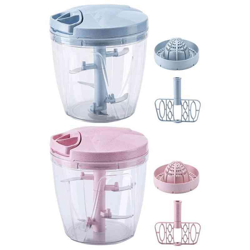 Multifunction Manual Meat Grinder Food Chopper Mincer Mixer Blender Juicer