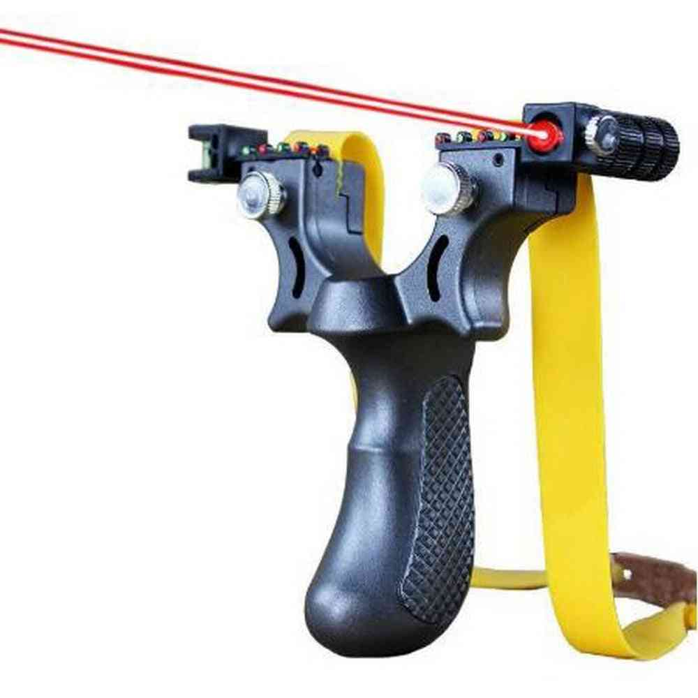 Slingshot Outdoor Hunting Catapult, Flat Rubber Band, Sports Game, Infrared Aiming