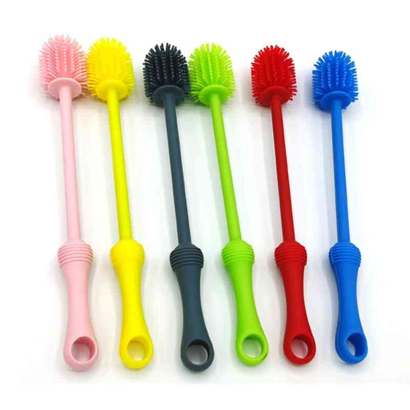 Baby Bottle Brush Multifunctional Long Handle Cleaning Rotary Bottle Brush Cleaner
