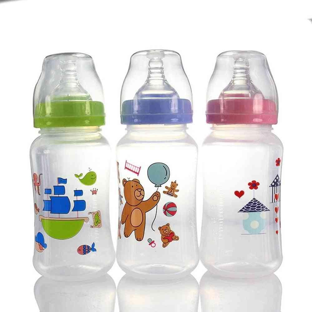 Newborn Baby Wide Mouth Pp Feeding Bottle Drinking Water Breast Feeling