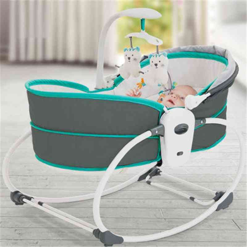 Electric Baby Shaker Vibration Rocking Chair, Smart Bed, Middle Recliner, Automatic Comfort Basket Cradle