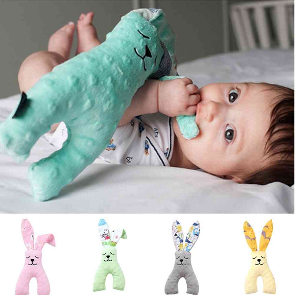 Baby For 0-12 Months, Bear Soothing Towel, Soft Doll For Newborns, Cute Cartoon, Animal Stroller Toy