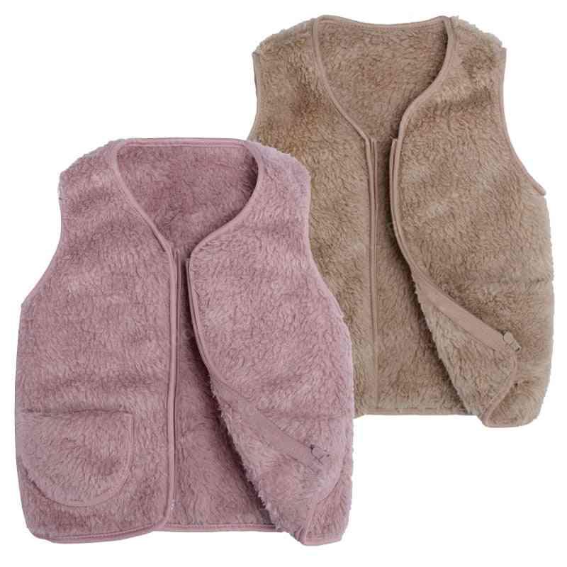 Fleece Kids Waistcoat Toddler For Girl, Warm Winter Sleeveless Jacket