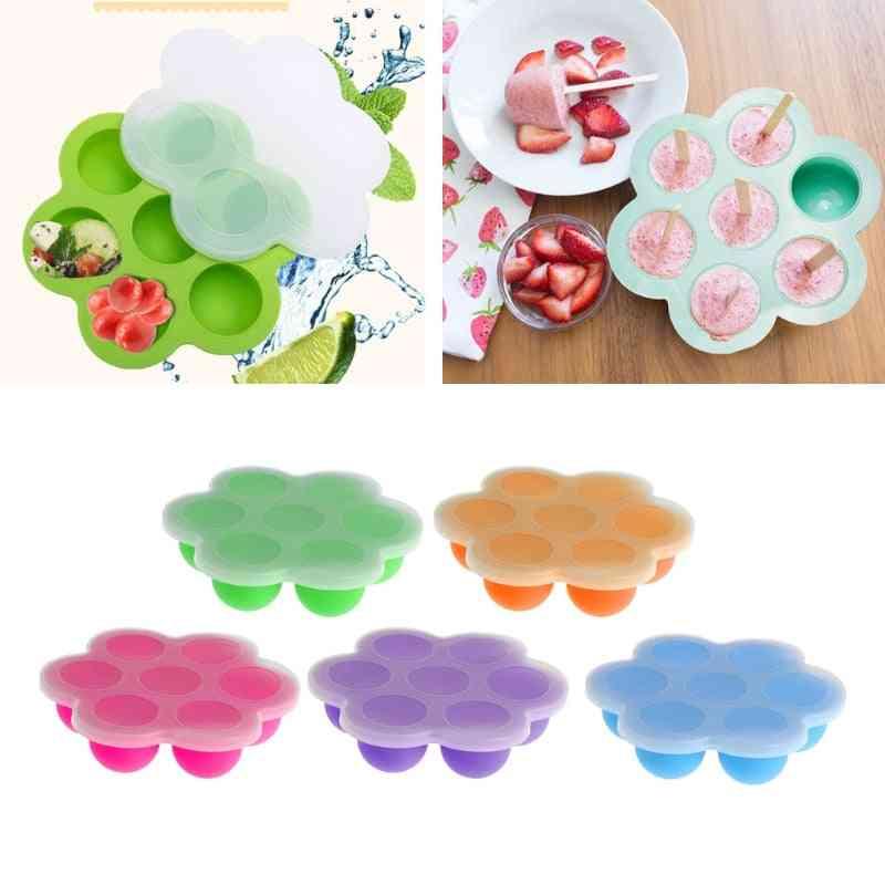 Baby Food Container, Infant Fruit Breast Milk Storage Box Freezer Tray Crisper