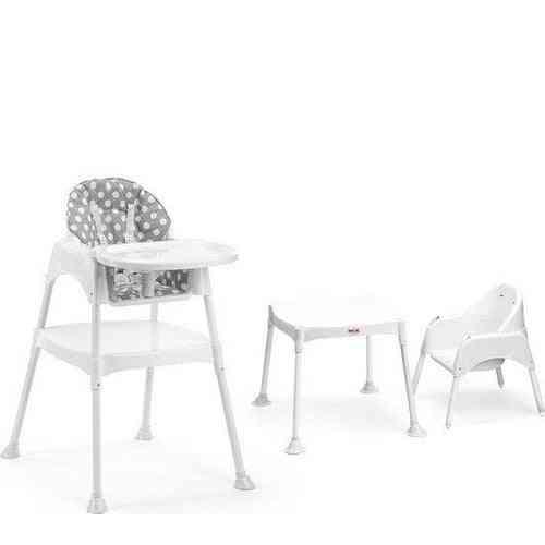 High Chair + Polka Dot, Cushion Baby Study Desk Set