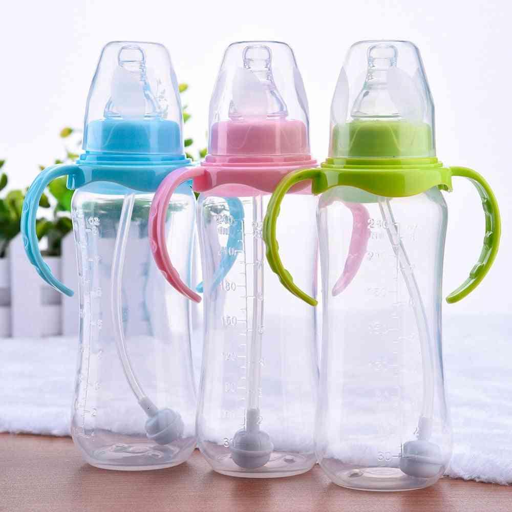 Bottle Infant, Newborn Cup, Learn Feeding, Drinking, Handle, Kids Straw Juice