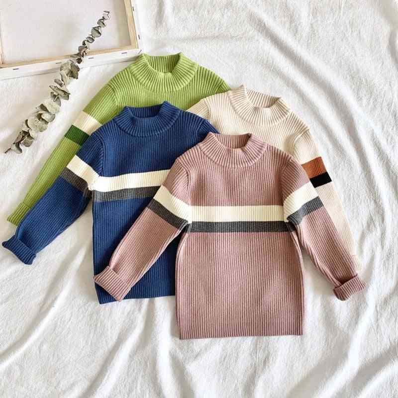 Children Christmas Sweater For Baby Boy Winter Clothes Autumn Casual Jumper Pullovers Striped Knitted Toddler Top