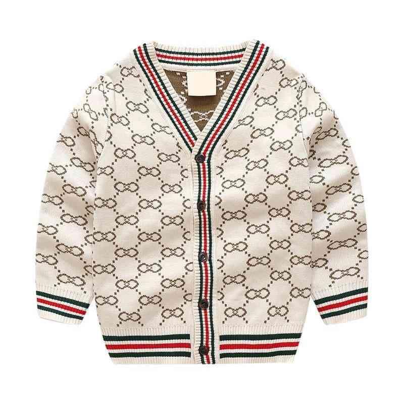 Knit Wear Striped Jacket & Mercerized Cotton Cardigan Sweater For Boy's & Girl's