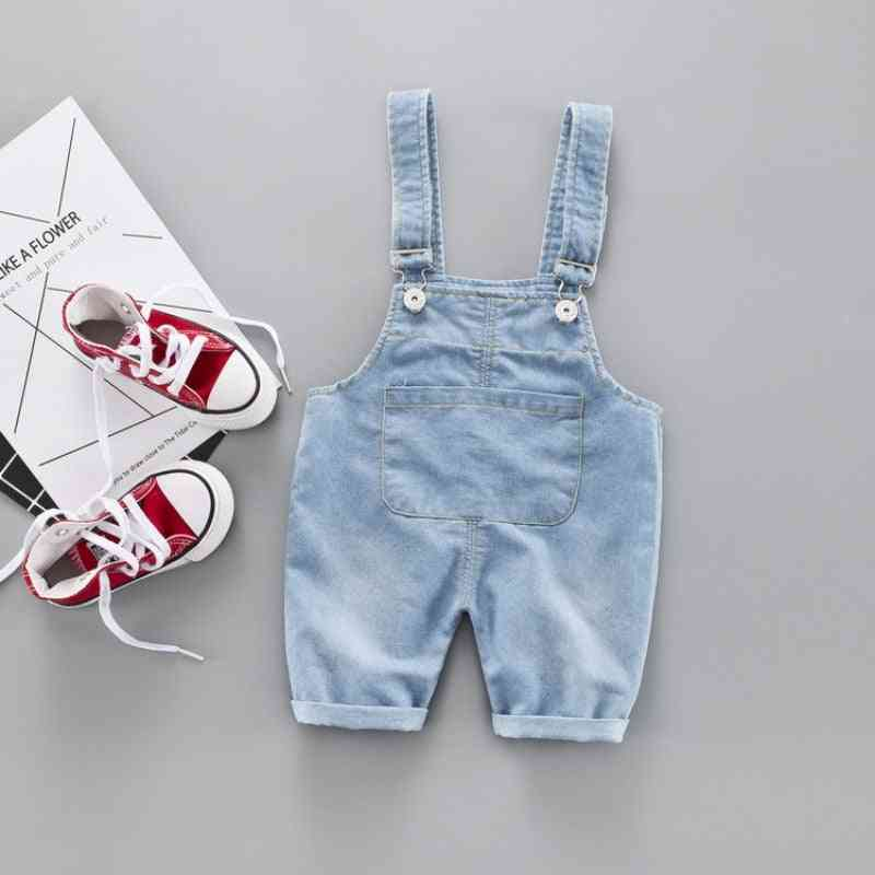 Suspenders Outfit, Cotton Elastic, Denim Pants Trousers For Baby & Kids