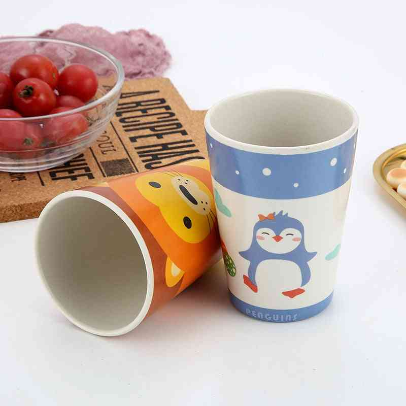 Bamboo Fiber's Drinking Cup Cartoon Anti-skid Baby Water Cups