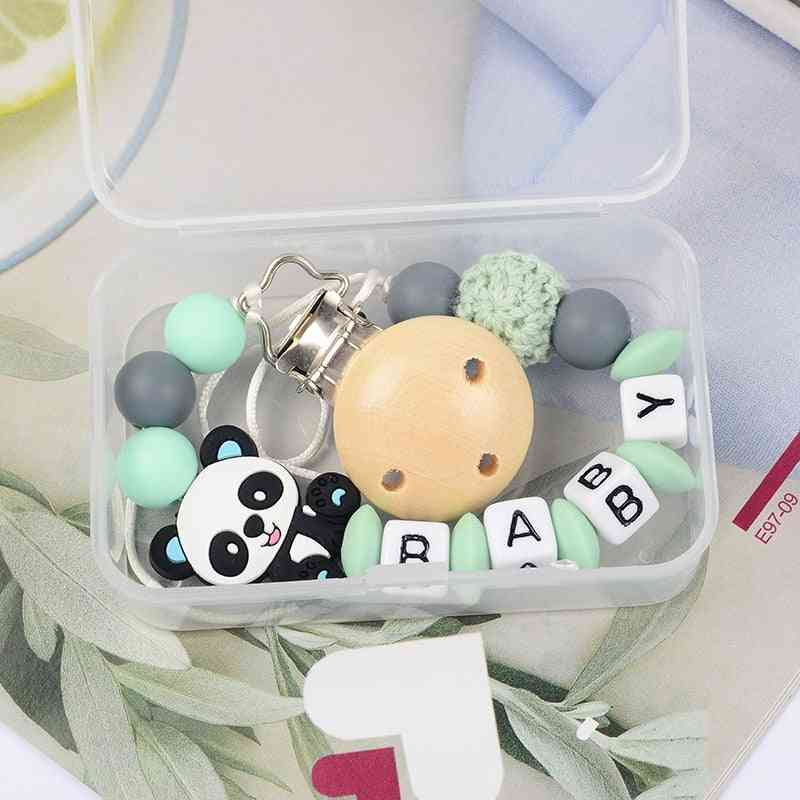 1pcs New Baby Teether Baby Boy Girl Pacifier Holder Chain Clip