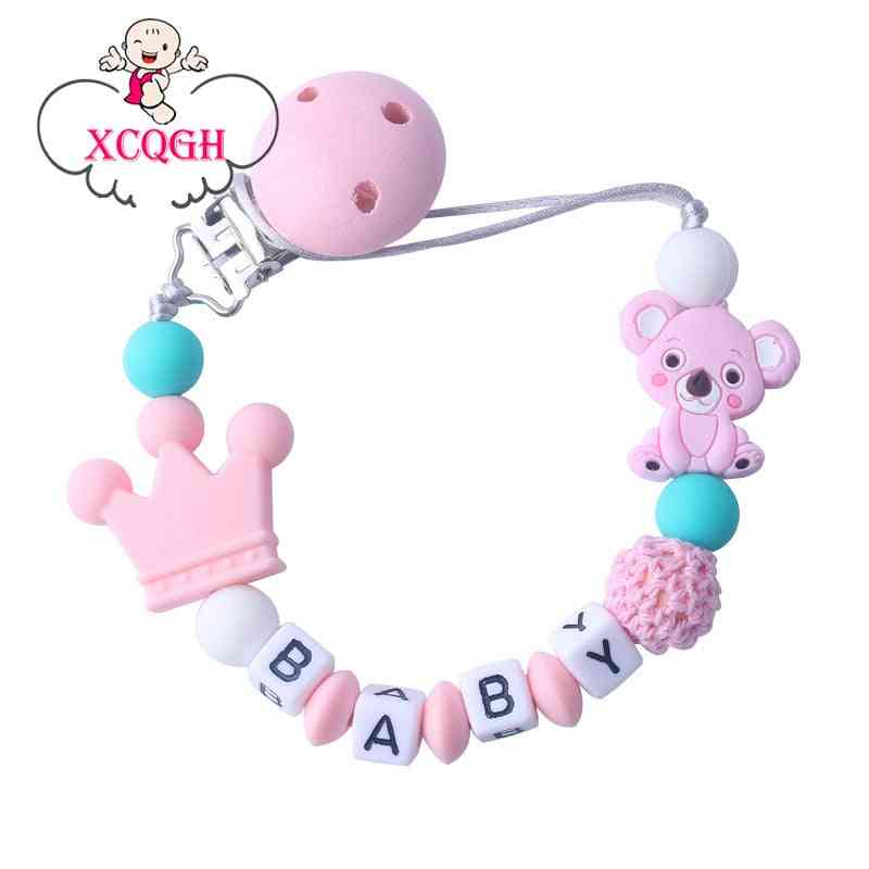 Baby Silicone Pacifier Anti-drop Chain Mini Silicone Pacifier Clips Chains