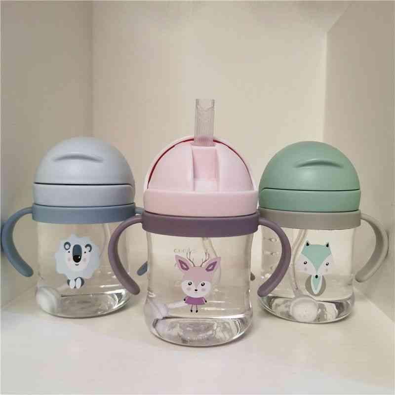 300ml Cartoon Cup, Baby Handle Resistant Water Bottle Ball