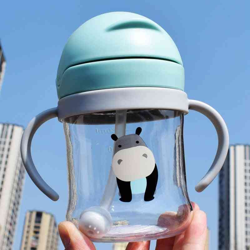 Feeding Drinking Bottle, Kids Pp Non-spill Straw Water Bottle Drinkware