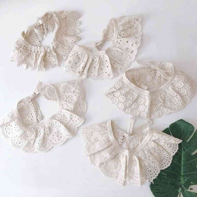 Baby Bibs Lace Accessories, Korean Style Kids Lace Collar Cute Hollow