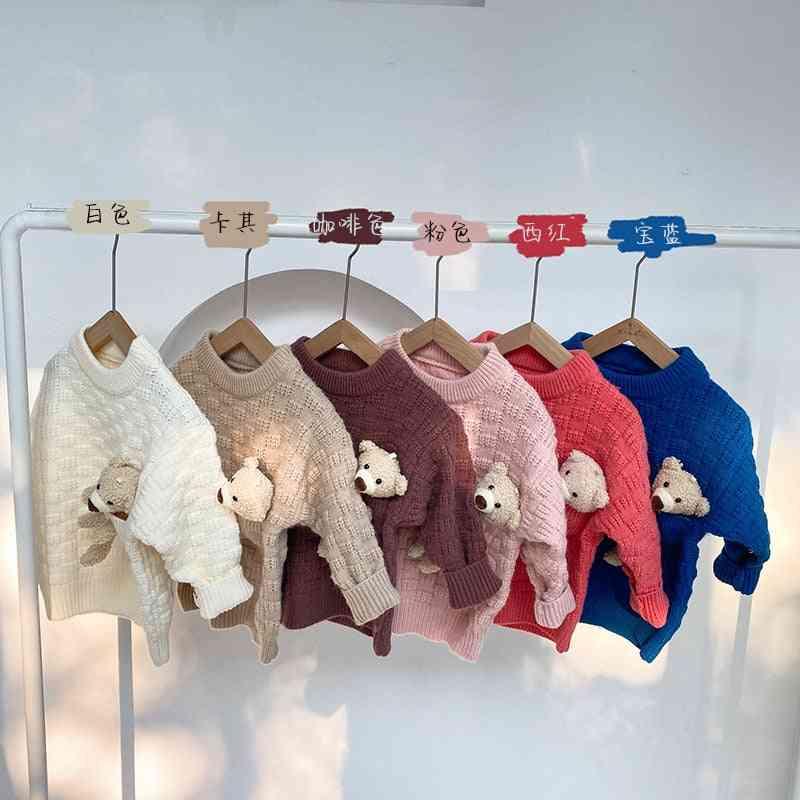 Autumn & Winter New Cartoons Bear Knit Sweater