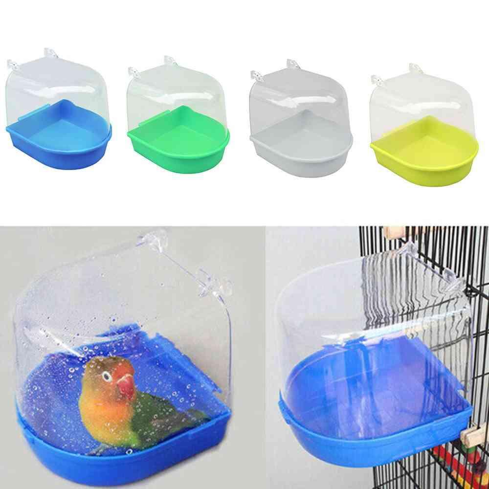 New Small Parrot Bird Bathtub Pet Cage Accessories Mirror Bath Shower Box Upgraded Version