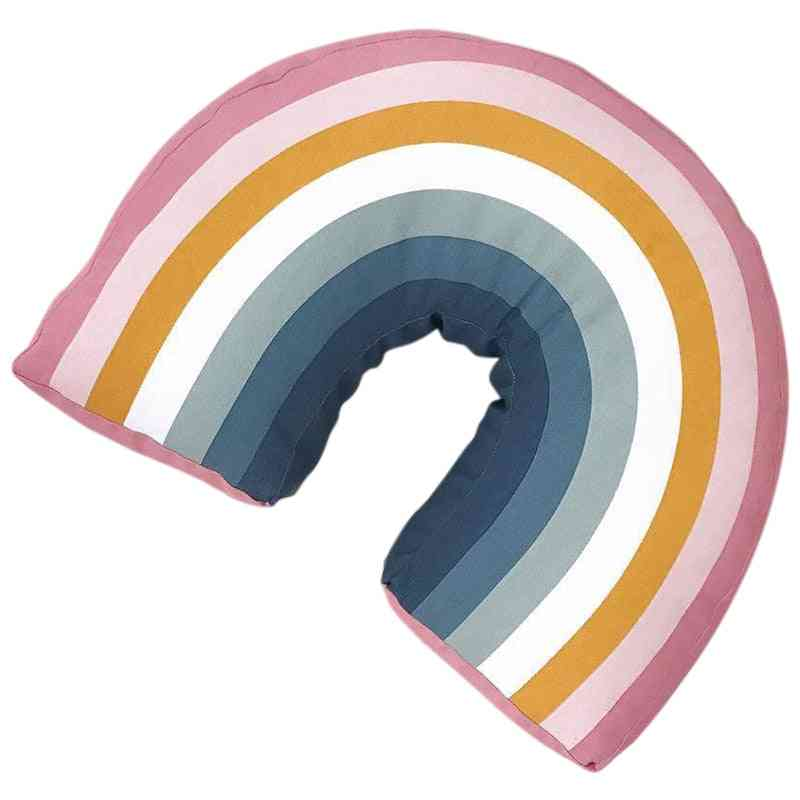 Rainbow U Shape Kids Pillow Decorative Room Neck Cushion Cute Baby Sleep Stuffed Birthday