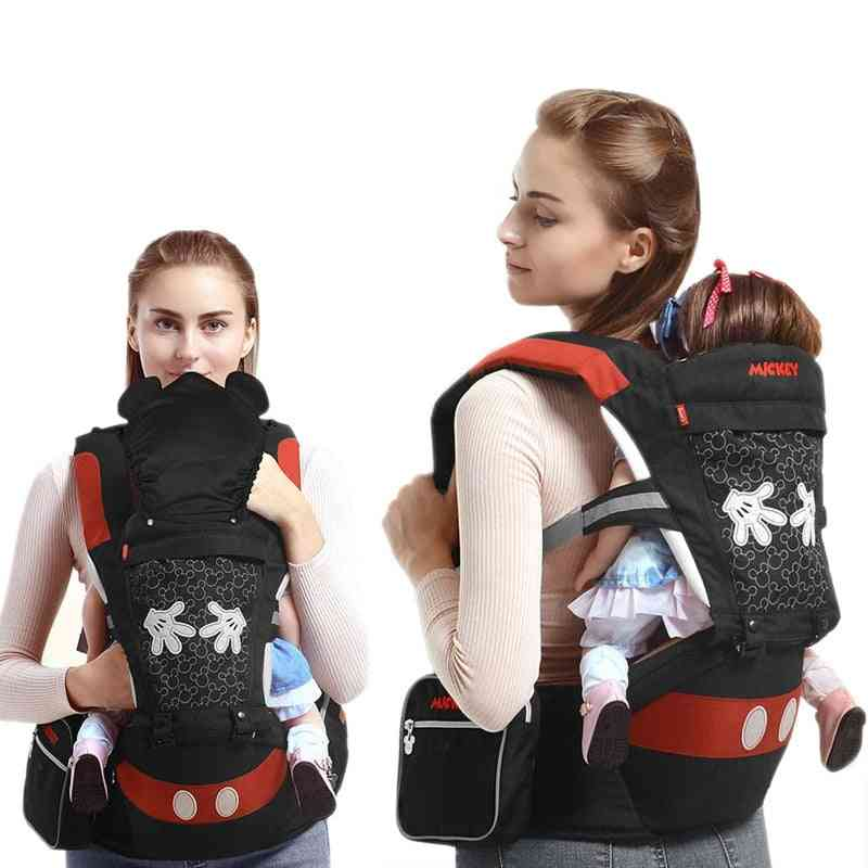 Disney Multifunctional Front Stool Baby Carrier Strap Ergonomic Backpack Breathable Detachable