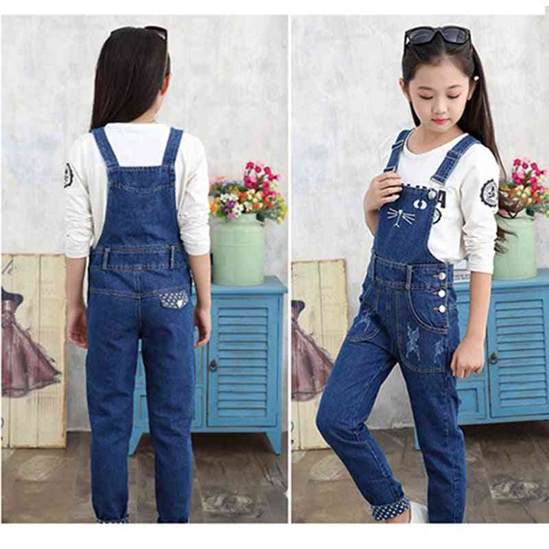 New Girls All-match Trousers Jeans In Autumn