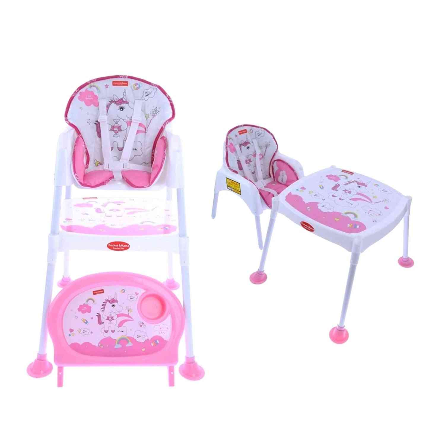 Pocket  Mama Pink Feeding Chair For