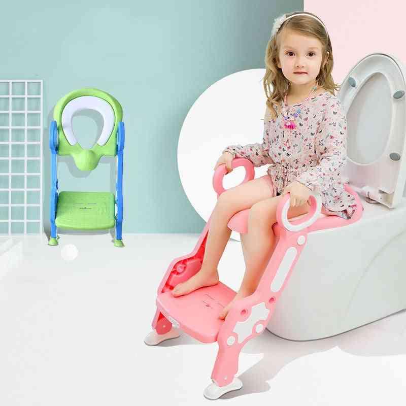 Adjustable Levels Folding Baby Potty Infant Kids Toilet Training Seat