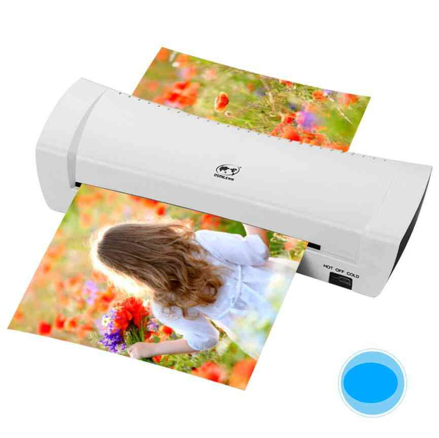 Hot Cold Photo Laminator, Fast Speed Film Laminating  Machine Laminating For A4 Document/ Photo