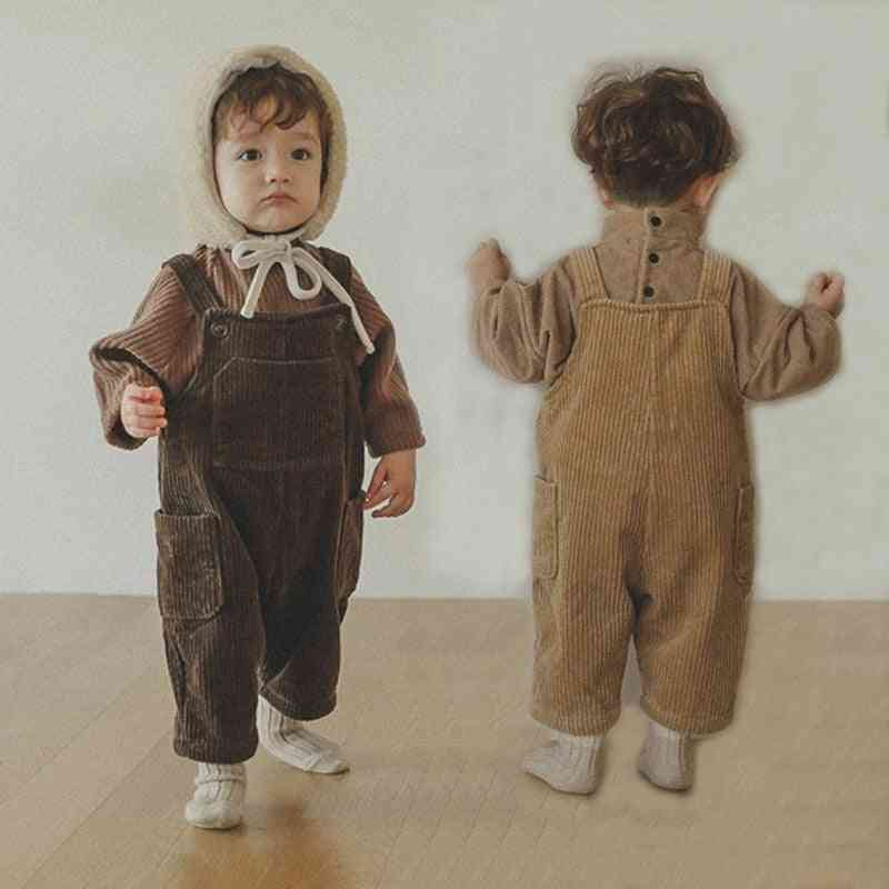Autumn Baby Overalls Pants, And Corduroy Strap Trousers