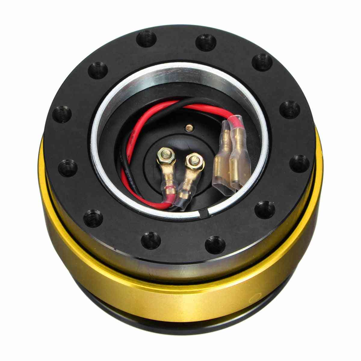 Universal Car Auto Quick Release Steering Wheel Snap Off Hub Adapter Boss Kit Aluminum