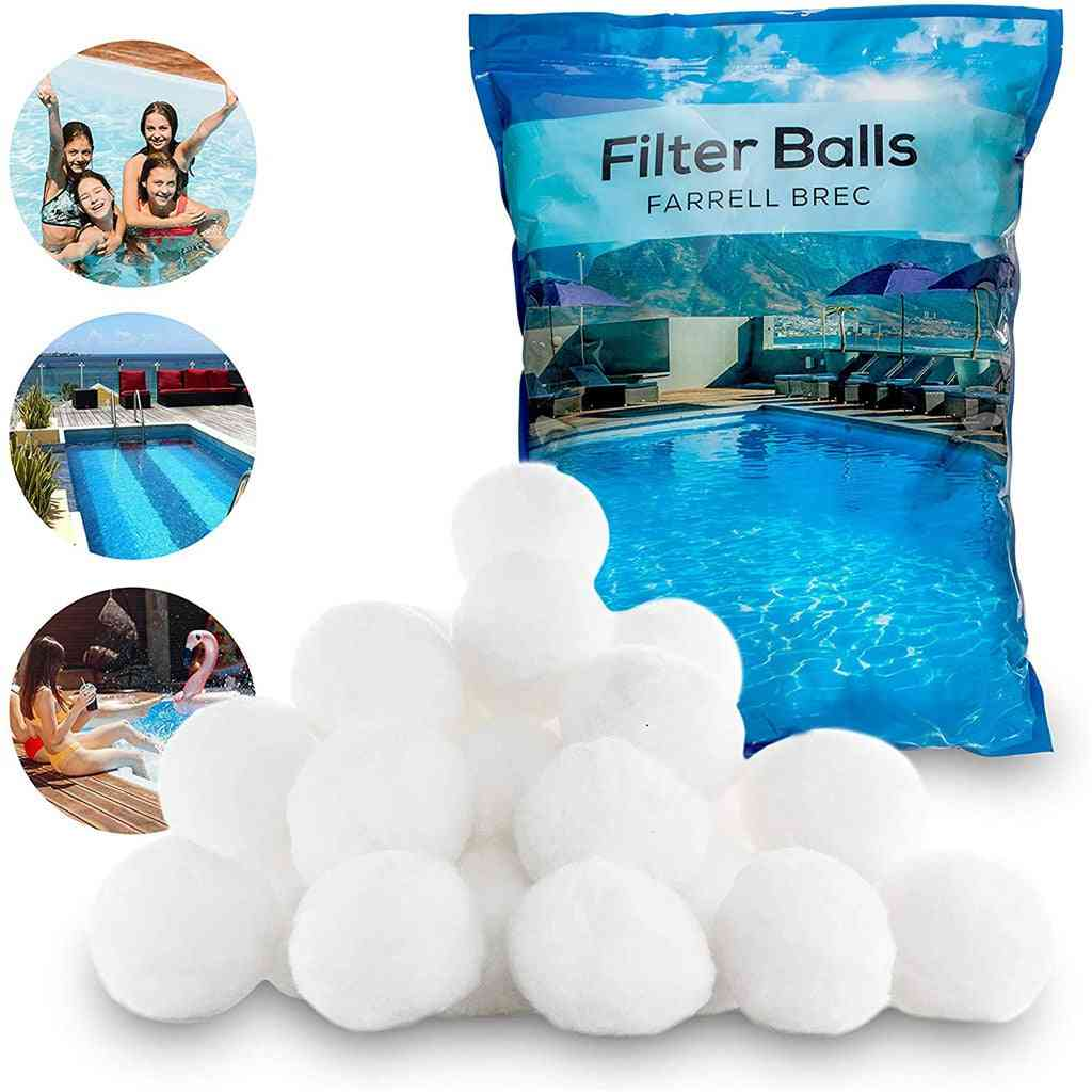 White Sand Filter Balls, Alternatively Swimming Pool Cleaning