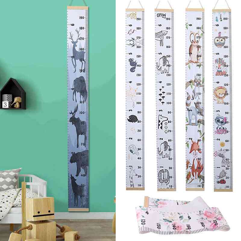 Style Cartoon Animal Height Measure Ruler, Wall Hanging Type Kids Growth Chart Table