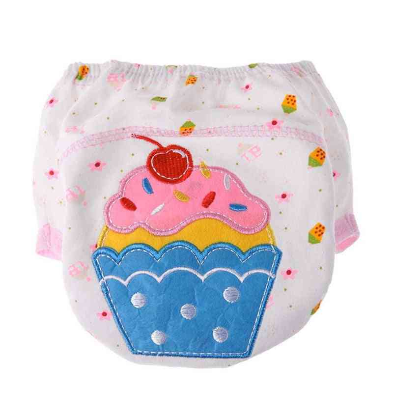 4pcs Baby Training Pants  Reusable Nappy Washable Cotton Learning Pants