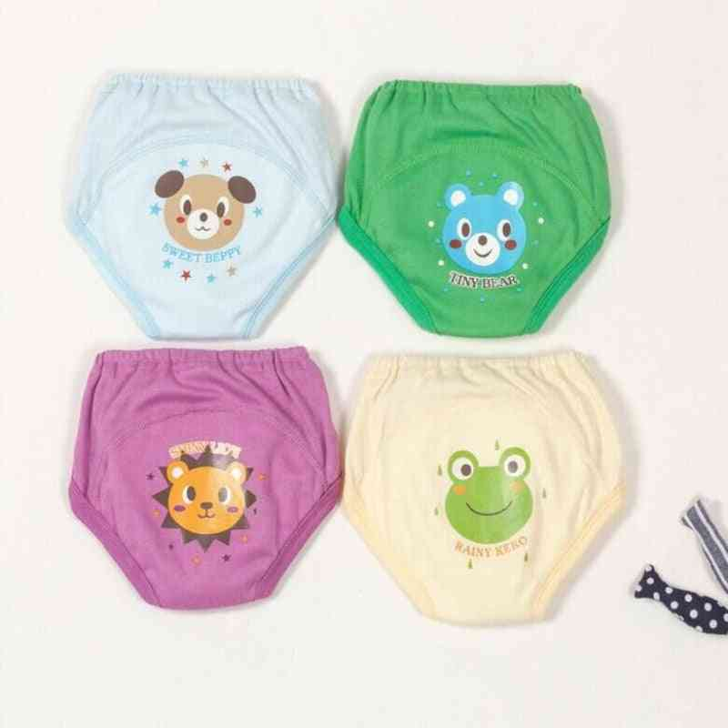 4pc/lot Baby Toddler Cute 4 Layers Waterproof  Training Pants