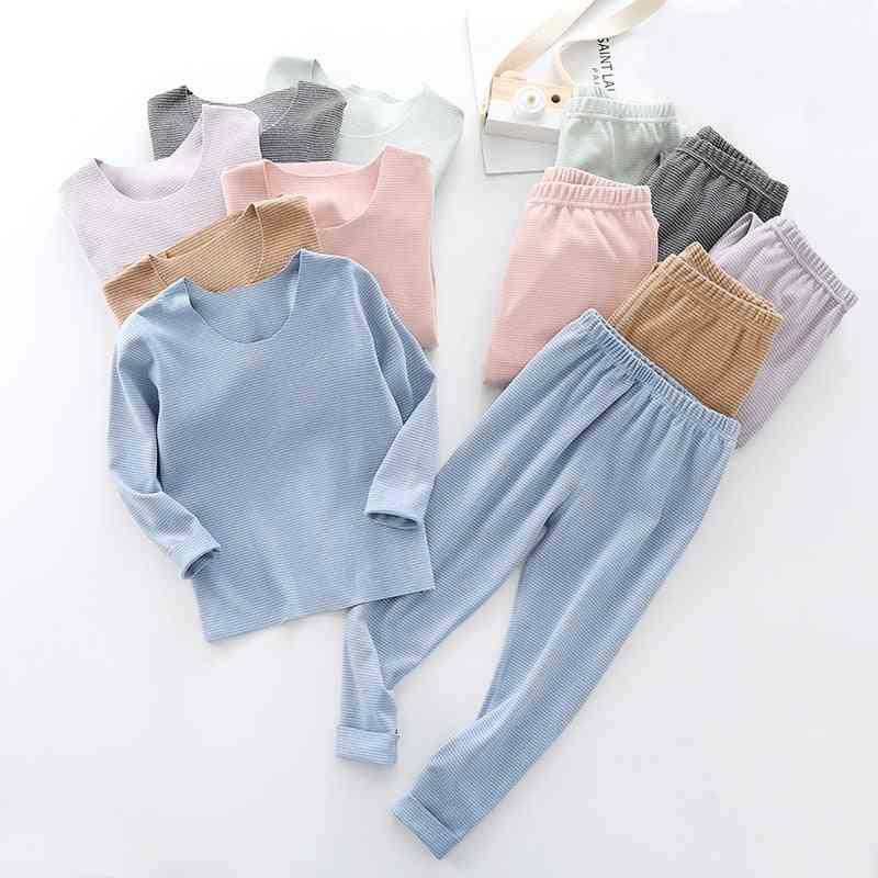 Children Thermal Underwear Set, And Stripe Clothes