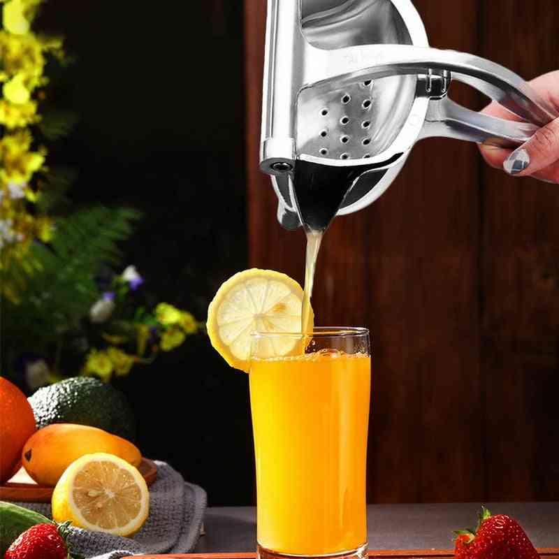 Portable Lemon Orange Manual Fruit Juicer Stainless Steel Kitchen Accessories Tools Citrus Hand Pressed  (as Show 22.7x10.5x13cm)