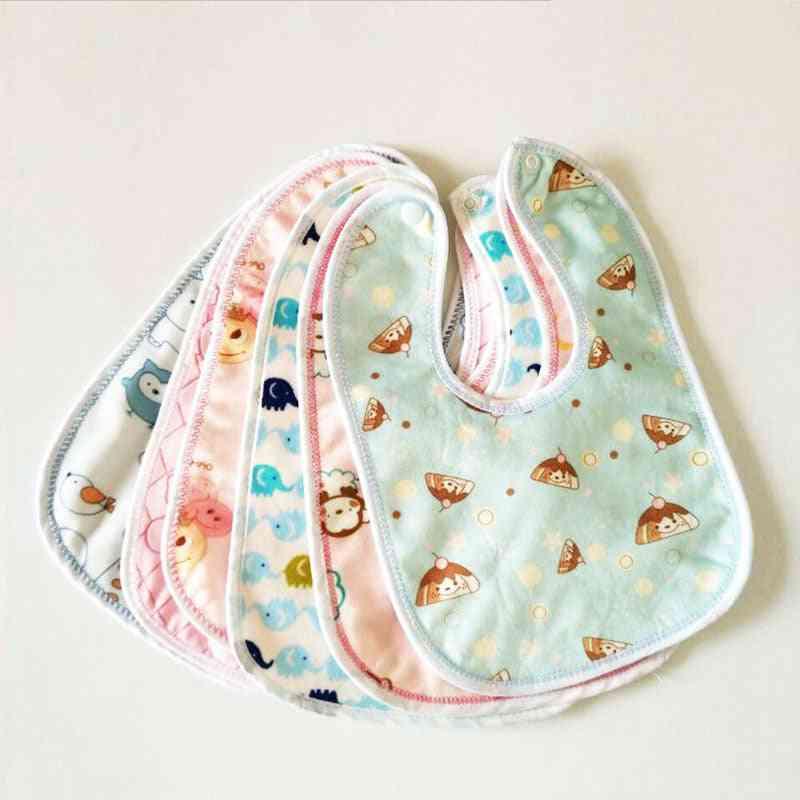 Waterproof Baby Bibs Cartoon Cotton  (random Color)